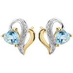 gifts woman Blue Topaz Ouaki Earrings