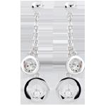 Boucle d'oreilles Odalie - or blanc 18 carats