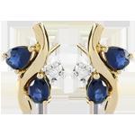 cadeaux Boucles d'oreilles Algoma - saphirs et diamants