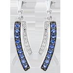 ventes Boucles d'oreilles Blina - saphirs - or blanc 9 carats