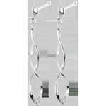 bijouterie Boucles d'oreilles Carnaval or blanc et diamants