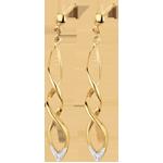 cadeaux femmes Boucles d'oreilles Carnaval or jaune et diamants