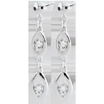 vente Boucles d'oreilles Le charme du paon - or blanc 9 carats