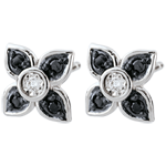 acheter en ligne Boucles d'oreilles Clair Obscur - Lys noir - diamants noirs