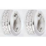 bijouteries Boucles d'oreilles Constellation - Astrale - petit modèle - or blanc 18 carats pavé - 0.22 carat - 32 diamants