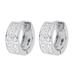 Boucles d'oreilles Constellation - Astrale variation - grand modèle - or blanc 18 carats- 0.2 carat - 20 diamants