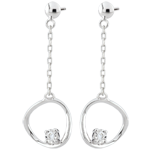 achat on line Boucles d'oreilles Cosmo - or blanc 9 carats