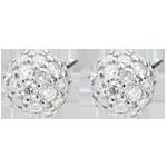 Boucles d'oreilles Destinée - Charme de Diamant - or blanc 18 carats
