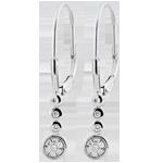 cadeau femmes Boucles d'oreilles diamants Irissa - or blanc 9 carats