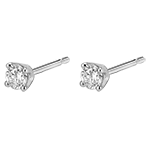 acheter on line Boucles d'oreilles diamants - puces or blanc - 0.25 carat