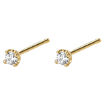 bijouteries Boucles d'oreilles diamants - puces or jaune 0.15 carat
