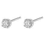 vente Boucles d'oreilles diamants (TGM) - puces or blanc - 0.4 carat