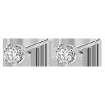 vente on line Boucles d'oreilles diamants (TGM) - puces or blanc 18 carats - 0.4 carat