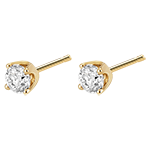 acheter on line Boucles d'oreilles diamants (TGM+) - puces or jaune - 0.5 carat