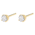 Boucles d'oreilles diamants (TGM) - puces or jaune 18 carats - 0.4 carat