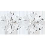 Boucles d'oreilles Flocons givrés - or blanc 9 carats