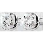 bijoux or Boucles d'oreilles Fraicheur - Camélia - or blanc