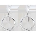 joaillerie Boucles d'oreilles Lady or blanc et diamants