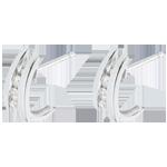 Boucles d'oreilles Nid Précieux - Accroche cœur -or blanc 18 carats