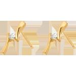 acheter on line Boucles d'oreilles Nid Précieux - Apostrophe diamants - or jaune - 0.1 carat - 18 carats