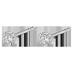ventes on line Boucles d'oreilles or blanc 18 carats diamants - puces diamant 0.2 carat