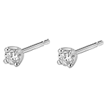 vente Boucles d'oreilles or blanc diamants - puces diamant 0.2 carat