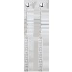 Boucles d'oreilles Parisiennes or blanc 18 carats et diamants