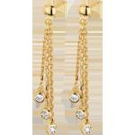 bijouteries Boucles d'oreilles pendants cascade or jaune