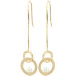 Boucles d'oreilles Perchoirs nacrés - perles - or jaune 9 carats