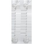 joaillerie Boucles d'oreilles Rhéa or blanc et diamants