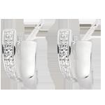 cadeaux femmes Boucles d'oreilles sagesse or blanc diamants