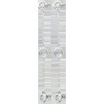 cadeaux Boucles d'oreilles Satine - or blanc 9 carats