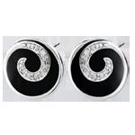 acheter Boucles d'oreilles Tiphon précieux - or blanc 9 carats