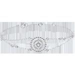 comprare on-line Bracciale Fior di Sale - Cerchio - Oro bianco - 9 carati - Diamanti