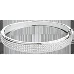 Bracciale giunco Costellazione - Astrale - Oro bianco - 18 carati - 4 file di Diamanti - 180 Diamanti - 1.62 carati