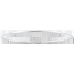 Bracciale Giunco Giungla Sacra - diamanti - oro bianco spazzolato 18 carati