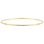 Bracciale Giunco Giungla Sacra - diamanti - oro giallo 18 carati