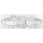 Bracciale Infinito - Oro bianco - 9 carati - Diamanti