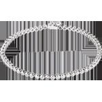 oreficeria Bracciale Pallottoliere diamanti - Oro bianco - 18 carati - 60 diamanti - 1.15 carati