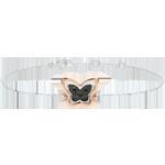 Bracciale Passeggiata Immaginaria - Farfalla Lunare - oro rosa e diamanti neri - 18 carati.
