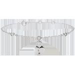 Bracciale Prezioso Segreto - Cuore - Oro bianco - 9 carati