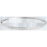 Bracciale rigido Barretta - Oro bianco - 18 carati - 25 Diamanti - 0.75 carati