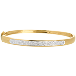 regalo donna Bracciale rigido Diorama - Oro giallo - 18 carati - 23 Diamanti - 0.25 carati