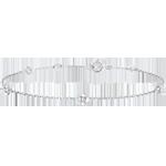 Bracciale Sboccio - Corona di Rose - diamanti - oro bianco 9 carati