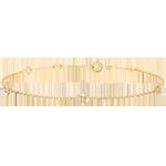 Bracciale Sboccio - Corona di Rose - diamanti - oro giallo 9 carati