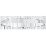 Bracciale Sboccio - Corona di Rose - smeraldi - oro bianco 18 carati