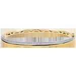 vente en ligne Bracelet Elégance diamants - or blanc et or jaune 9 carats
