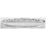 cadeau femmes Bracelet Elégance - or blanc et diamants - 9 carats