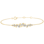 gift women Bracelet Enchanted Garden - Foliage Royal - Yellow gold and diamonds - 9 carat