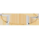 Bracelet Genèse - Diamants bruts bicolore - or blanc 9 carats